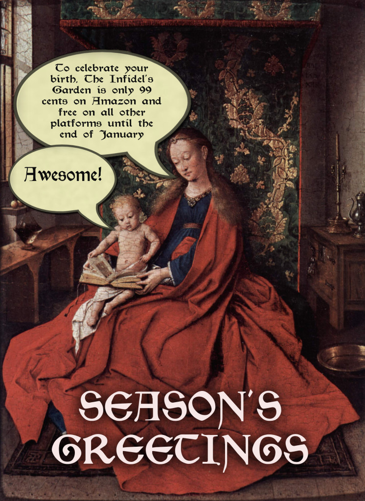 Hooray for royalty-free images from artists who've been dead for well over fifty years plus thanks (and apologies) to Jan van Eyck.